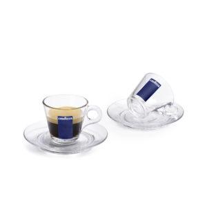 tazzina in vetro caffè Lavazza